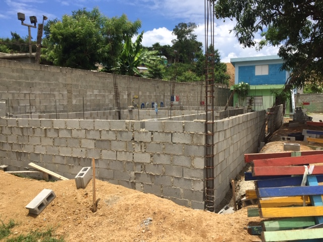 Finished Block Wall